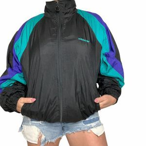 Vintage 80s Adidas Windbreaker Jacket Medium/Large